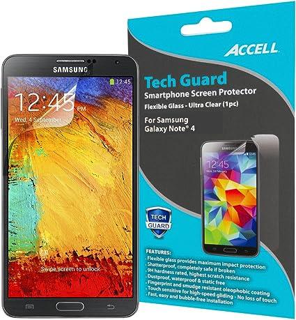 Accell Tech Guard Smartphone Protector de Pantalla para Samsung Galaxy Note 4 (s182 a-010l): Amazon.es: Informática