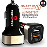 Tokyotron IGH00062 3.1A Dual Port USB Car Charger (Black)