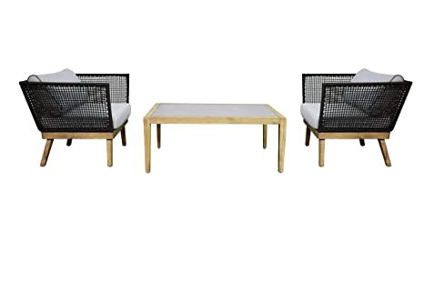 Mobili Scandinavi On Line : Jet line set di mobili da giardino cuba con poltrone e corde