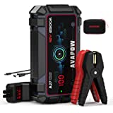 A V A P O W Car Battery Jump Starter 2500A Peak 22800mAh, Portable Auto Battery Boost Pack Jumper Box(Up to 8L Gas 8L Diesel