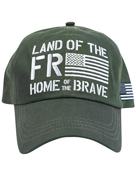 Amazon.com  Buck Wear Freedom American Flag Hat - Olive Emboidered ... 5d642c0697b