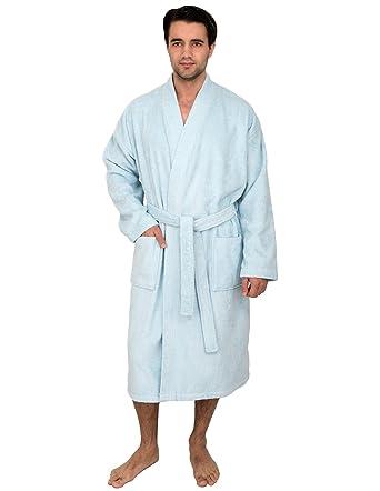 TowelSelections Men s Robe Low Twist Cotton Terry Kimono Bathrobe Made in  Turkey at Amazon Men s Clothing store  635d660fb