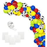 Toy Inspired Story Party Balloons Arch, 120pcs Cow Pattern Printed White Balloons Green Red Blue Yellow Latex Balloons with B