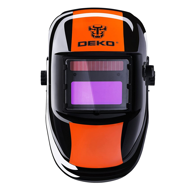 Solar Powered Welding Helmet Auto Darkening Professional Hood with Wide Lens Adjustable Shade Range 4//9-13 for Mig Tig Arc Weld Grinding Welder Mask