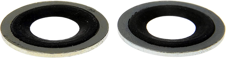 Fits 1//2 Dorman 097-021CD Metal//Rubber Drain Plug Gasket 2 Pack M12 So for Select Models