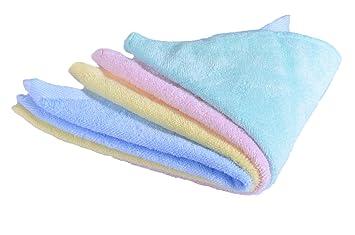 CaLeQi Pack de 4 mixed Colour-Soft Bambú Toallas de Cara, Suave Bebé Recién Nacido Toalla de Cara, 30 x 30 cm (30x30cm): Amazon.es: Bebé