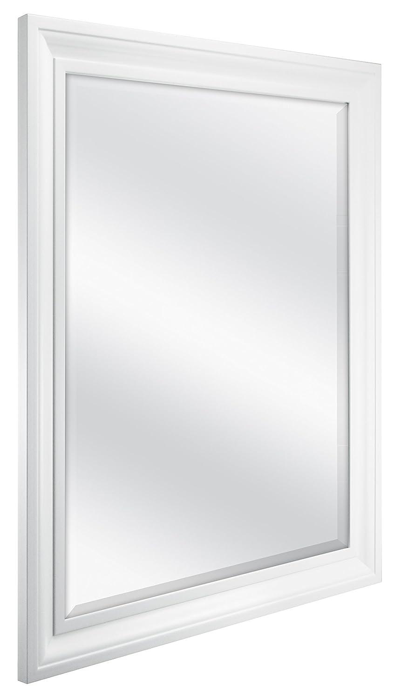 Amazon mcs 215x275 inch rectangular wall mirror 265x325 amazon mcs 215x275 inch rectangular wall mirror 265x325 inch overall size white 20453 home kitchen amipublicfo Gallery