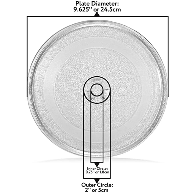 Amazon.com: Pequeña placa giratoria de cristal para ...