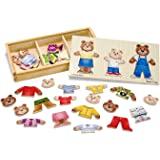 Melissa & Doug Mix 'n Match Wooden Bear Family Dress-Up Puzzle With Storage Case, 45 pieces