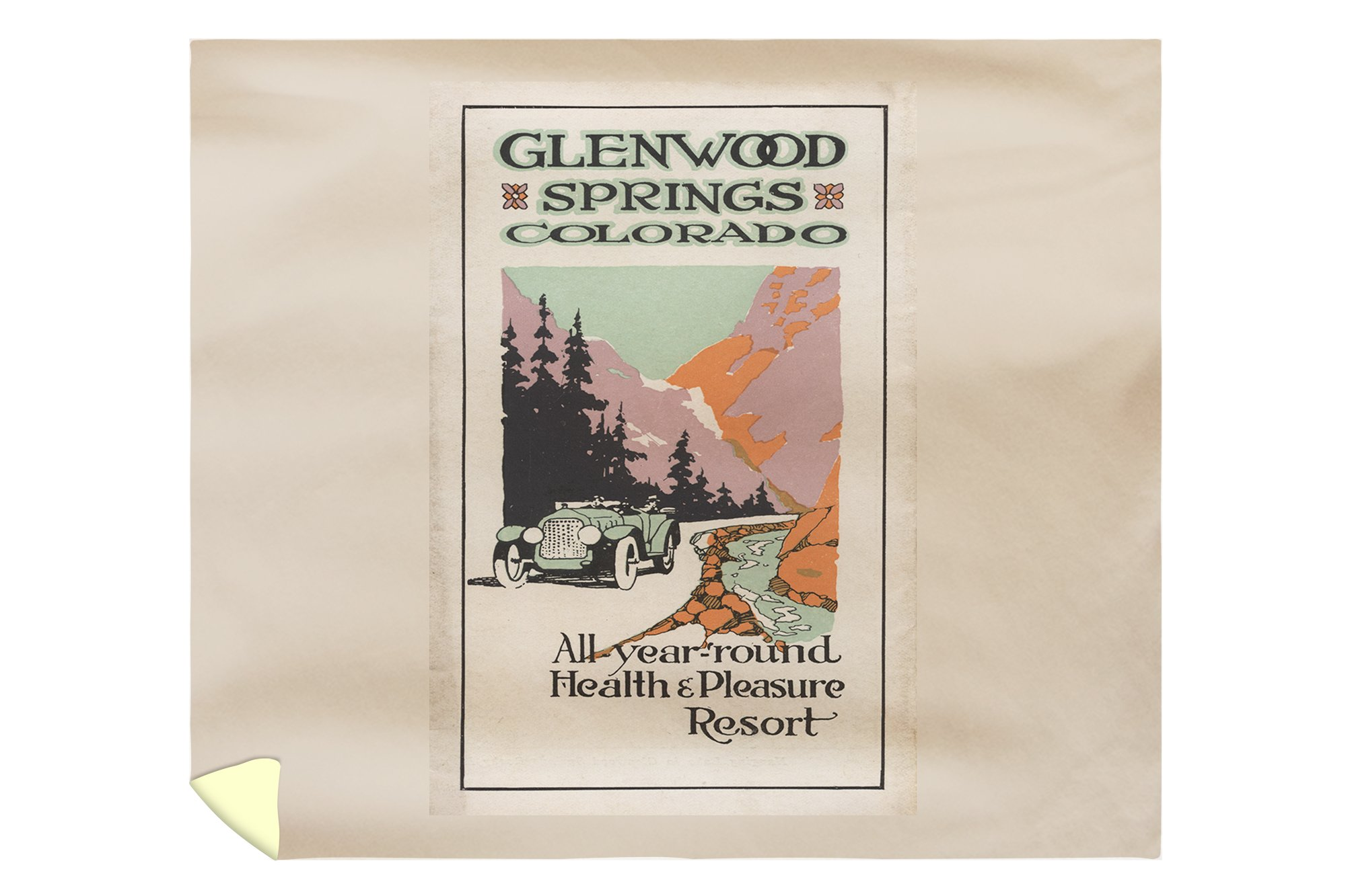 Glenwood Springs, Colorado - Health Resort #1 - Vintage Advertisement (88x104 King Microfiber Duvet Cover)