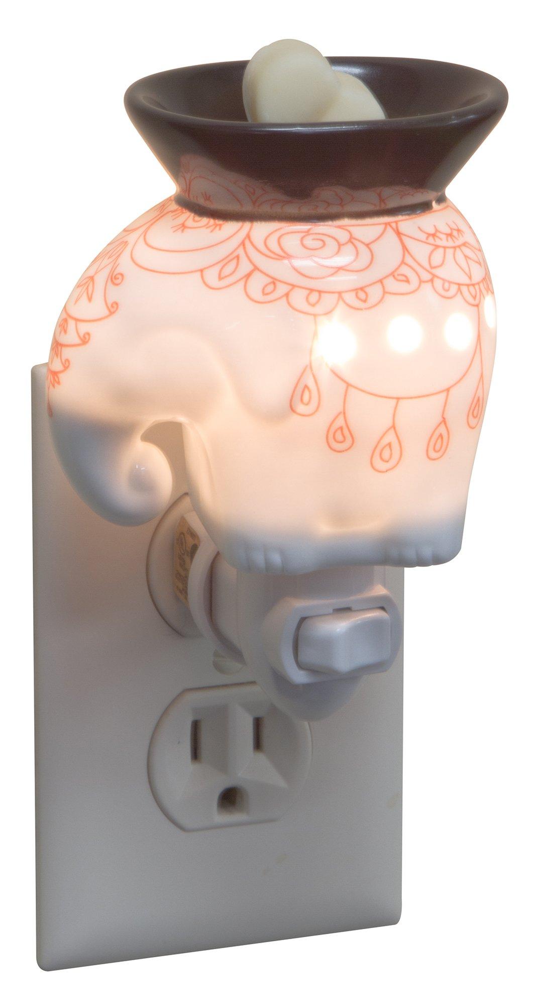 EVELINA Elephant of Kathmandu Night Light Scent Melt Warmer (Orange)