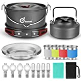 Aluminium Camping Rivera Odoland Camping Vaisselle Set 9 Pièces Casserole Set incl