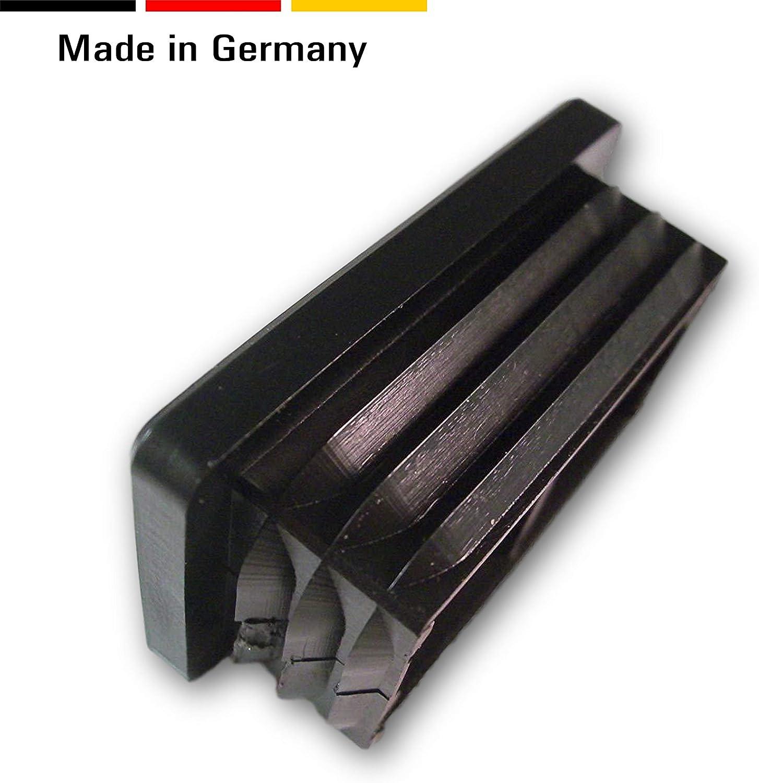 20 fiches pour tubes carr/és noires dimensions ext/érieures 20x15mm