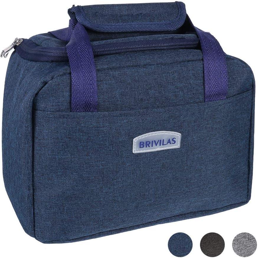Azul Thursday April Bolsa T/érmica Porta Alimentos del Almuerzo Comidas con Tela impermeable Esmerilada para Mujeres Hombres y Estudiantes en la Oficina de la Escuela