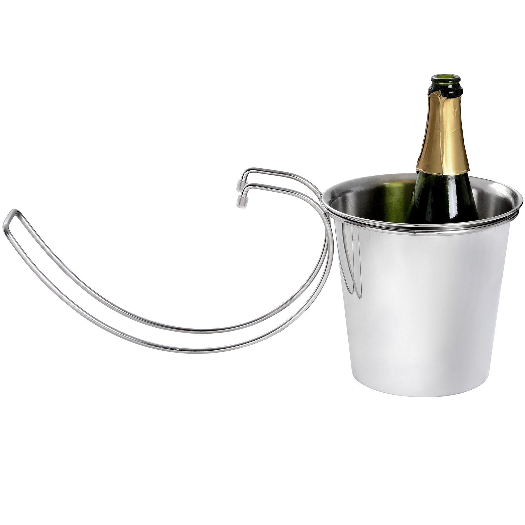 Hill Interiors Table Hanging Champagne Bucket (One Size) (Silver)