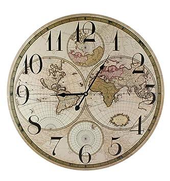 Carte Du Monde 60 Cm Diamètre Horloge Murale