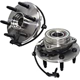 Detroit Axle - 4WD 515036 Front Wheel Bearing and Hub Assembly 6LUG 2PC Set for 4WD 4x4 Cadillac Escalade ESV EXT Chevy…