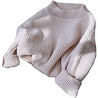 GRNSHTS Baby Girls Lotus Leaf Collar Long Sleeve Knitted Romper