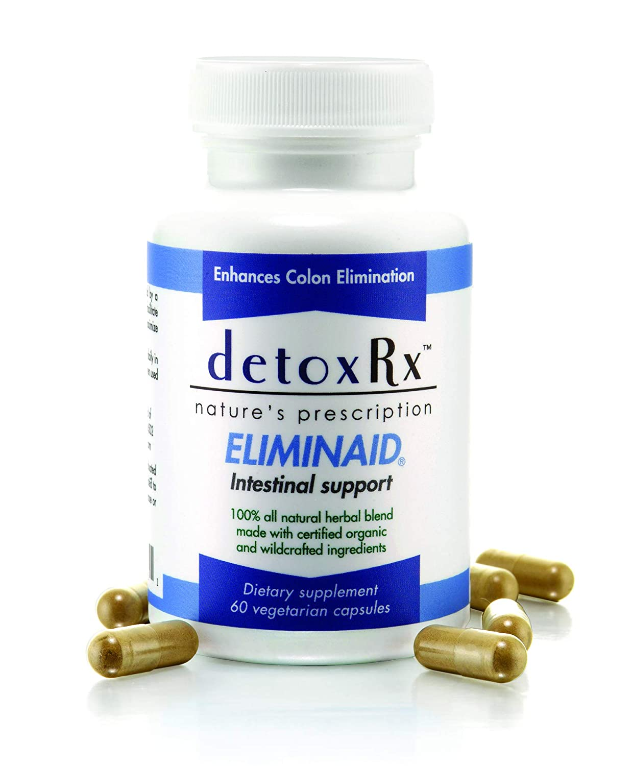 DetoxRx Eliminaid – provides gentle elimination assistance during times of stress, illness, immobility, travel, dietary changes or as a result of prescription medications