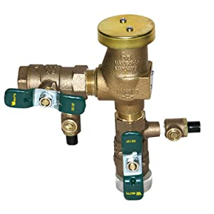 3/4 in Bronze Anti-Siphon Pressure Vacuum Breaker, Quarter Turn Shutoff, Tee Handles