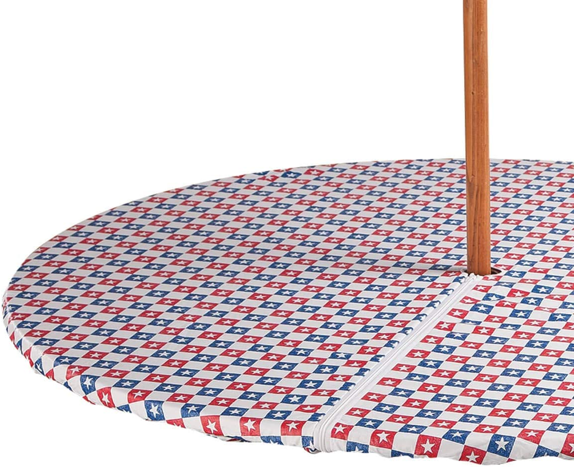 Miles Kimball American Stars Zippered Elasticized Umbrella Table Cover