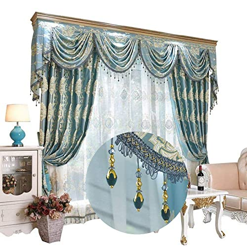 Amazon.com: Bluish Green Victorian Jacquard Curtains and ...