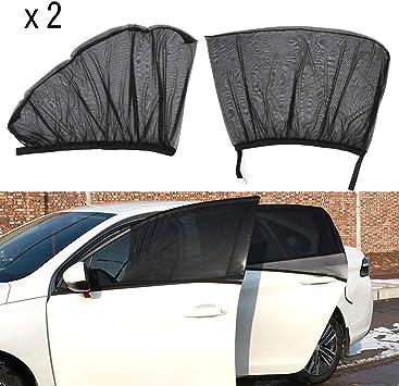 Parasol de Ventana Lateral para Beb/é 2 Unidades Parasoles laterales coche con protecci/ón UV para proteger del sol a beb/és y mascotas Parasol Coche Bebe
