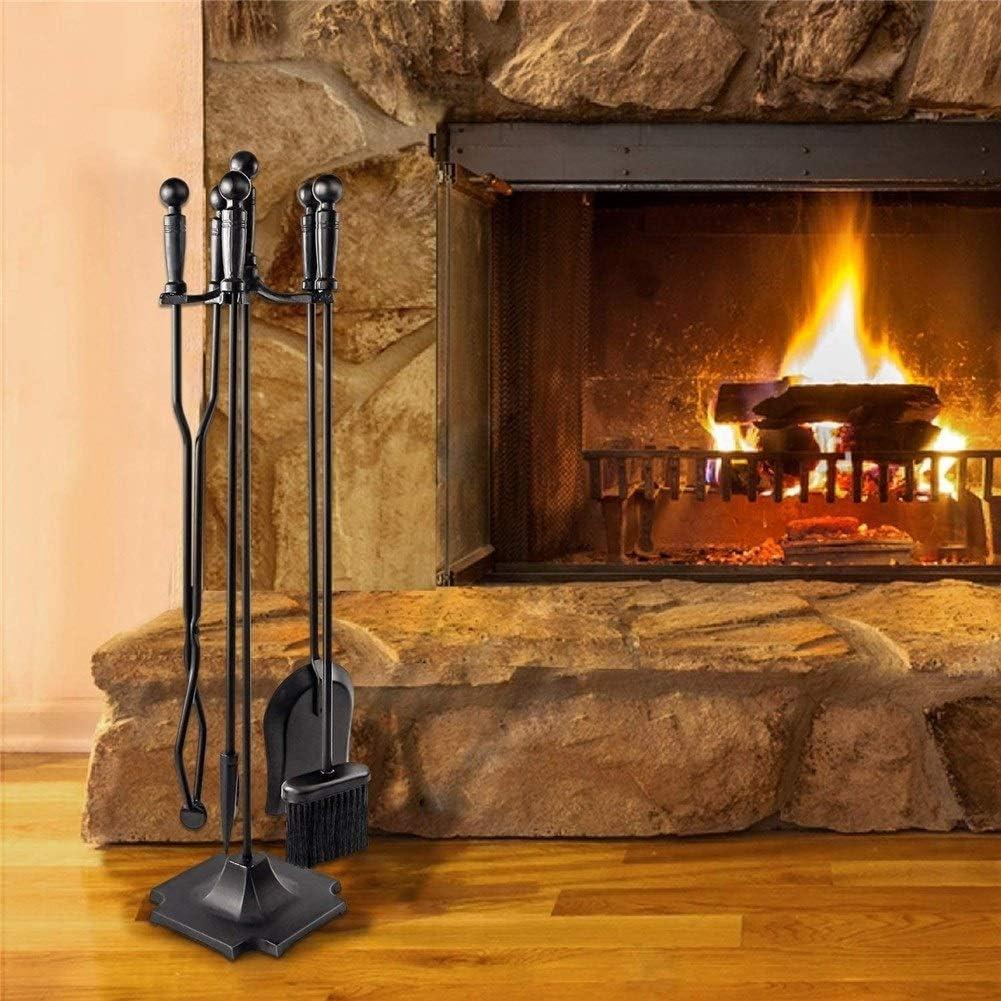 5 Pièces Log Brûleur Set Fireside Companion Fire Outil Kit Accessoires pour cheminée