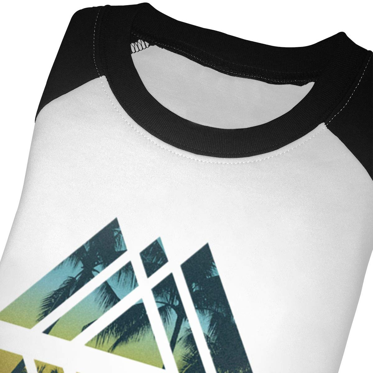 Geometric Tropical Beach Kids Jersey Raglan T-Shirt Children 3//4 Sleeve Baseball Shirt Top