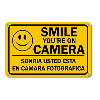Amazon.com: Smile You re on cámara de seguridad de ...