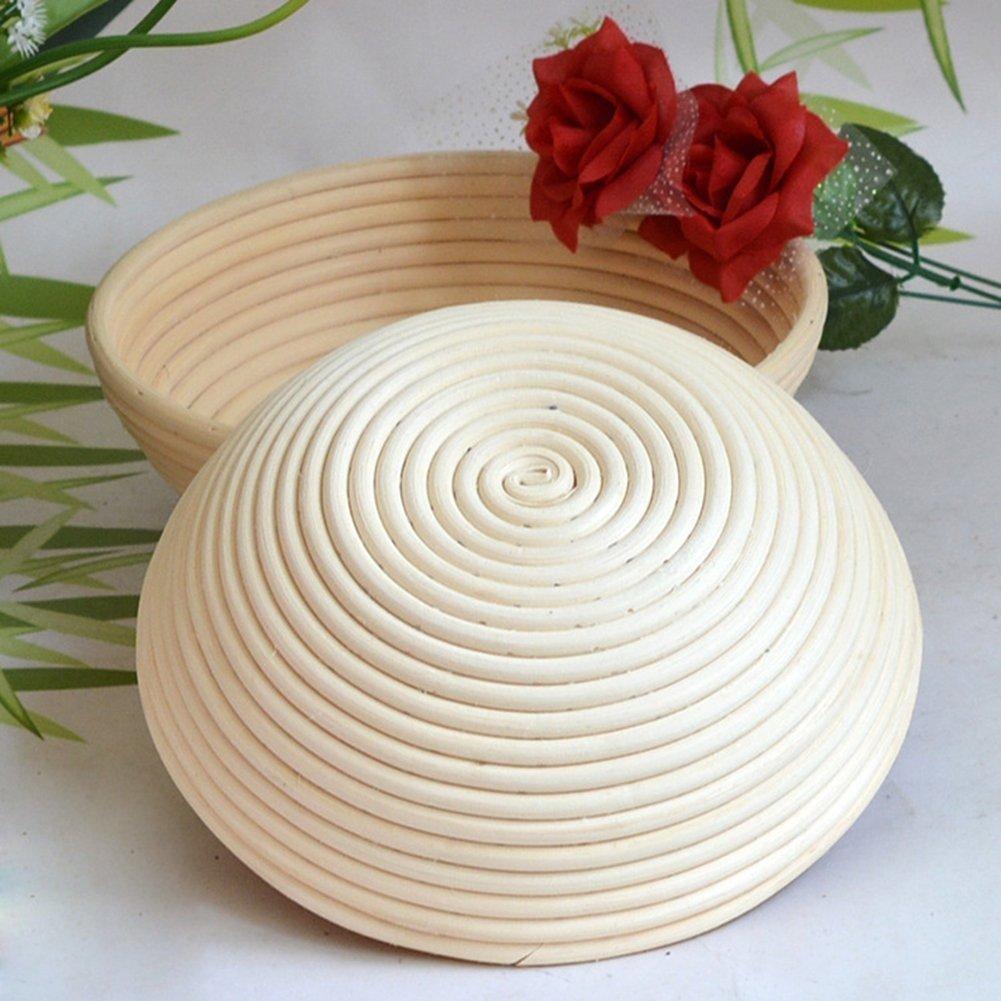 Banneton Pruebas Cesta Banneton para pan 25x8.5cm PROKTH La ideal cesta para masa y fermentaci/ón de pan de mimbre natural