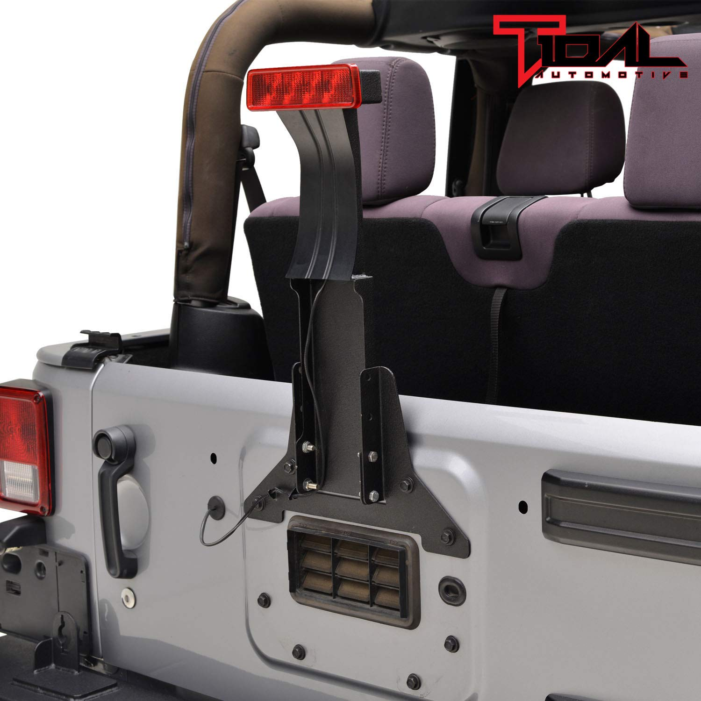 amazon com: 07-18 jeep wrangler jk third brake light mounting bracket  extension wire harness: automotive