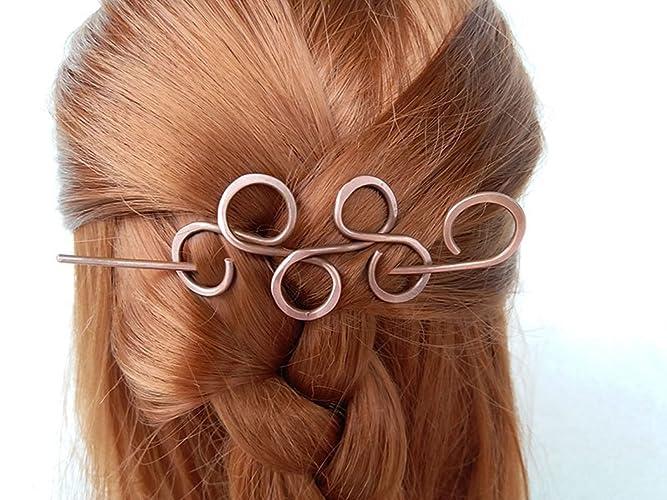 Amazon.com: Copper Hair Accessories Hair Barrettes Hair Sticks Hair ...