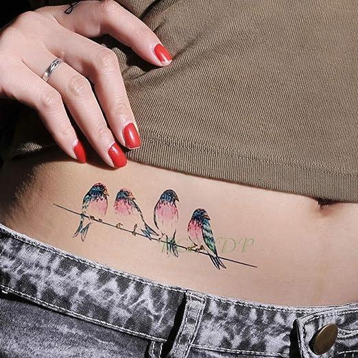 5pcs Etiqueta engomada del Tatuaje a Prueba de Agua Serpiente ...