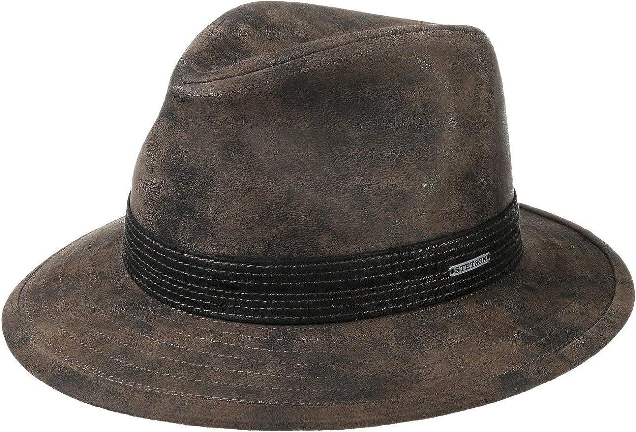 Stetson Sombrero de Piel Jacky Pigskin Hombre - con Forro Verano/Invierno