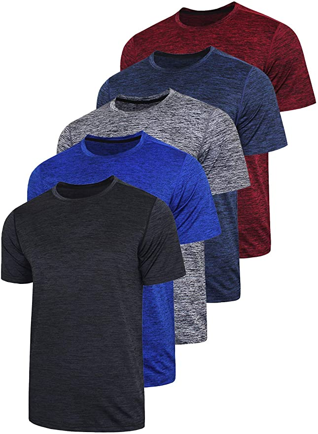 Details about  /Men Quick Dry Short Sleeve T-Shirt Fitness Running Sports Athletic Sportswear