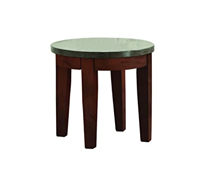 Amazon.com: Acme Muebles 81746 faymoor mesa auxiliar, piedra ...