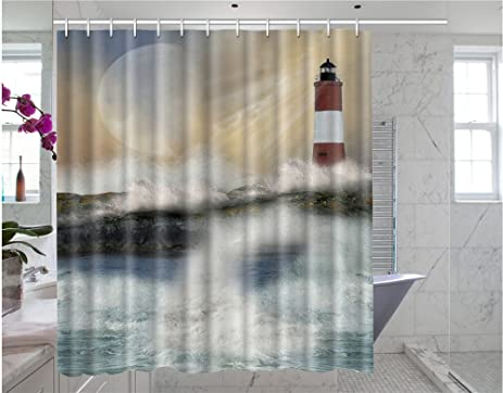 Amazon Somersetoo Custom Lighthouse Art Print Pattern Shower