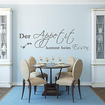 Wandtattoo Küche Spruch Der Appetit kommt beim Essen 119x42 ...