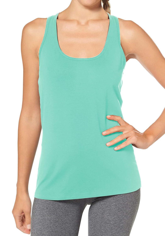 H HIAMIGOS Tank Tops for Women Yoga Tank Tops Racerback Activewear Running Gym Sleeveless Exercise Shirts Basic Layer