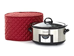 Covermates – Slow Cooker Cover – 17W x 12D x 17H – Diamond Collection – 2 YR Warranty – Year Around Protection - Red