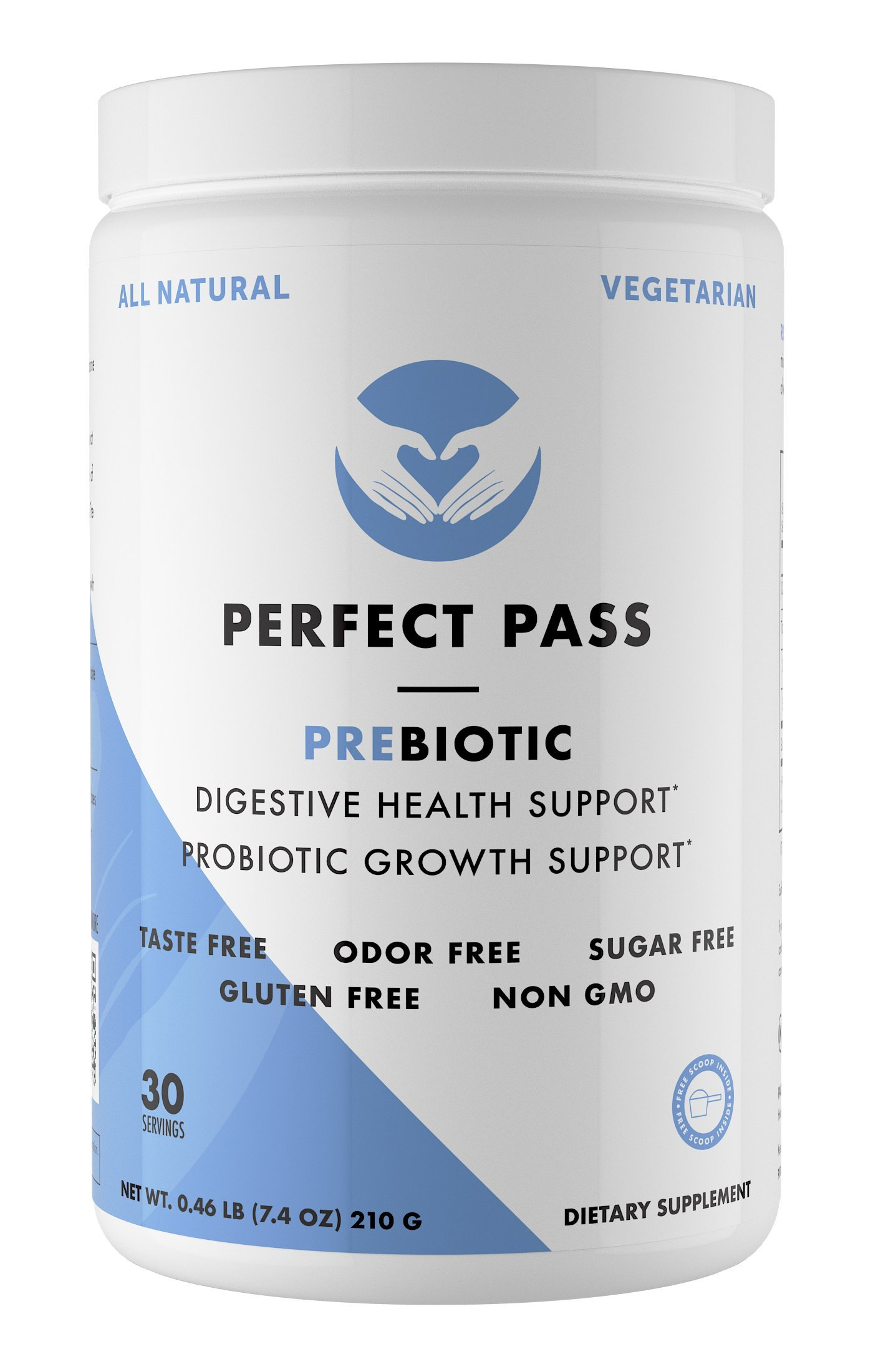 Perfect Pass Prebiotic PHGG Partially Hydrolyzed Guar Gum 210g Powder - 100% Natural Gluten Free Non GMO - Certified Kosher Vegetarian Sugar Free by PERFECT PASS