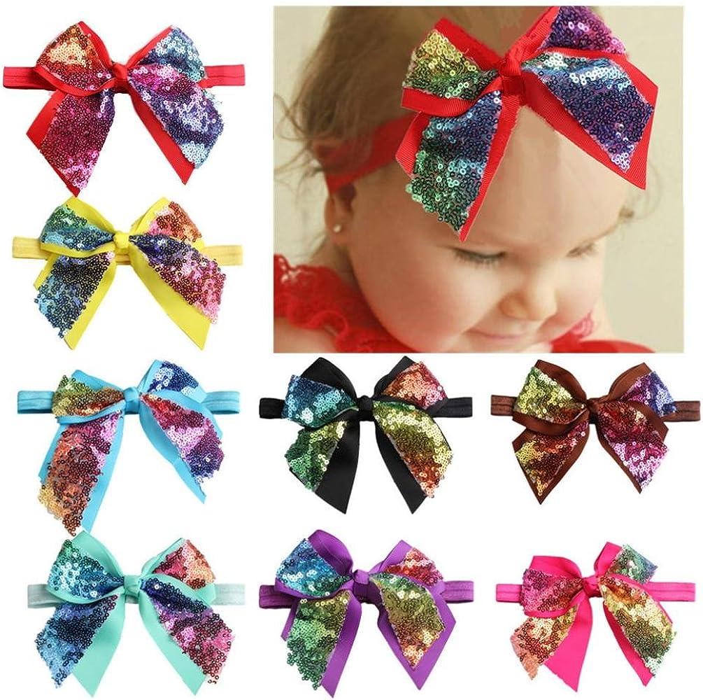 Baby Girls Bowknot Headbands Hair Bands Photography Props Infant Headdress Soft