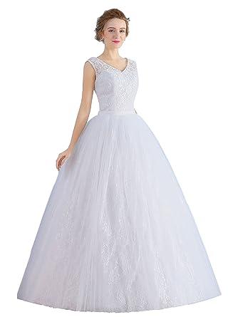 Austen – 3956 Brautkleid mit Rückenschnürung Weiß Gr.46: Amazon.de ...