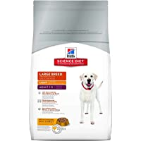 Hill's Science Diet Adult Light Dog Food, Large Breed Chicken Meal & Barley for Weight Management, Dry Dog Food, 12kg Bag