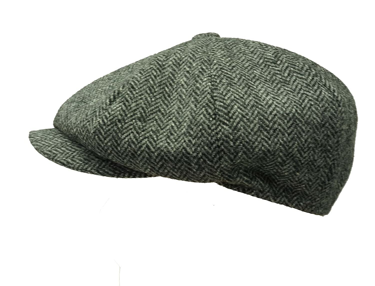 Earland Brothers Failsworth Peaky Shelby Blinders Style Cap Newsboy Cap Shelby Cap -Grey Herringbone 1088
