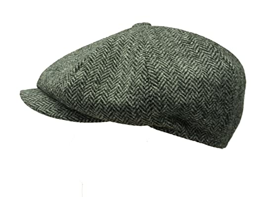 Failsworth Hats Peaky Blinders Style Cap Newsboy Cap Shelby Cap -Grey  Herringbone 1088 (61cm 6a36f425a9db