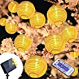 infinitoo Solar String Lights 6 m 30 LED Outdoor Lanterns 5.5 V Waterproof Warm White LED Decor Lighting for Party for Yard Patio Home and Garden, Balcony, Window