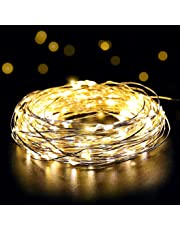 Salcar 10m 20m LED colorati corda leggera a 10 metri / 33 piedi 100 diodi all'interno filo di rame