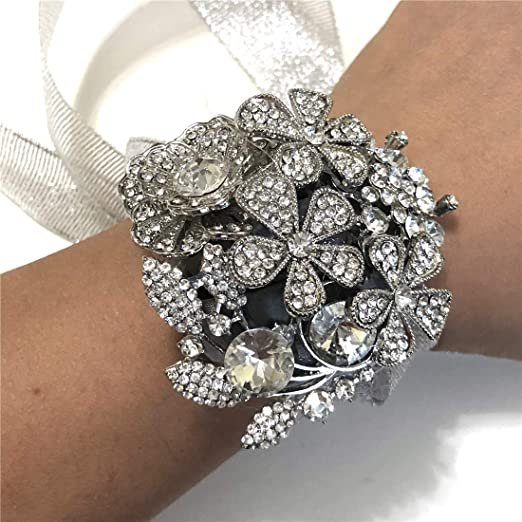gran regalo para flores niña Nupcial Bridesmaids Diamante Pulsera